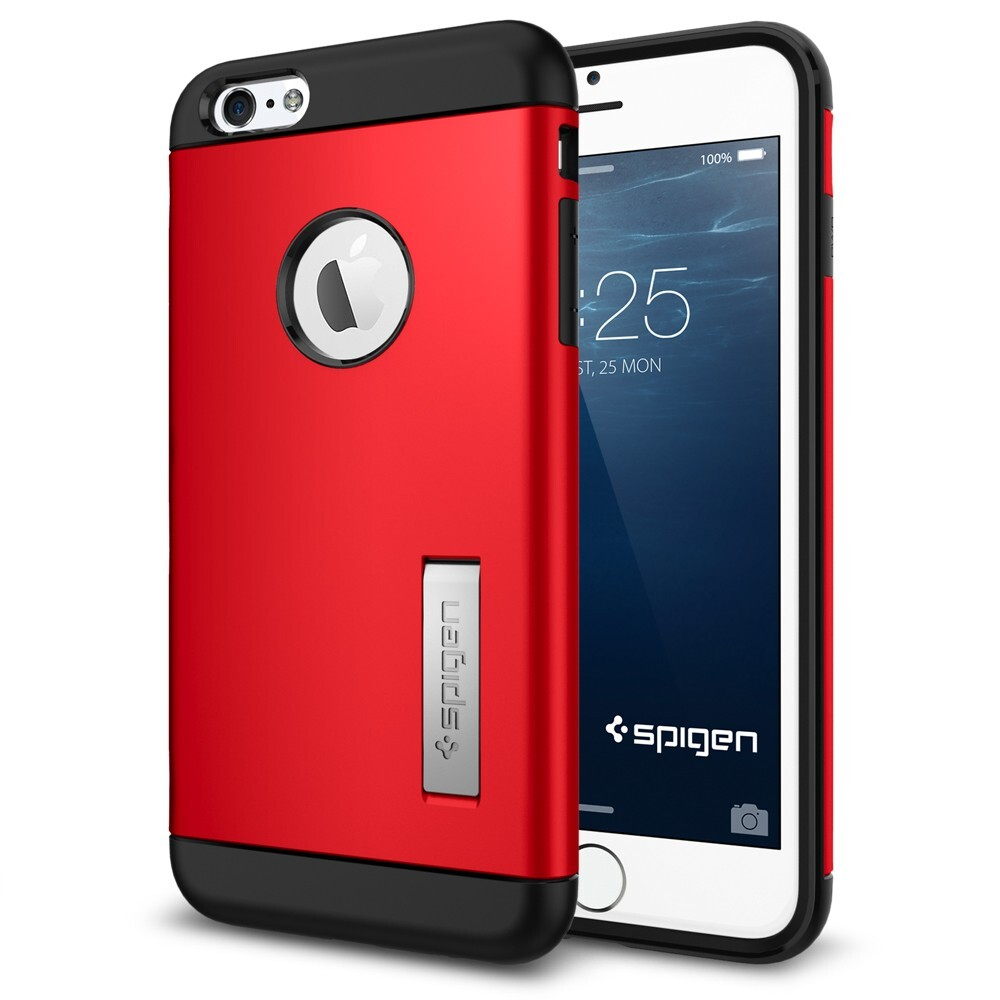Чехол Spigen Slim Armor Electric Red для iPhone 6/6s Plus