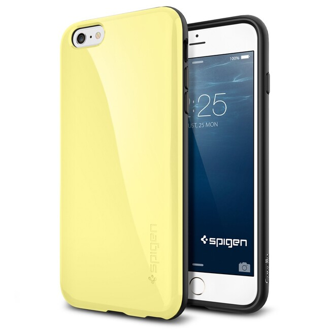Чехол Spigen Capella Lemon Yellow для iPhone 6/6s Plus