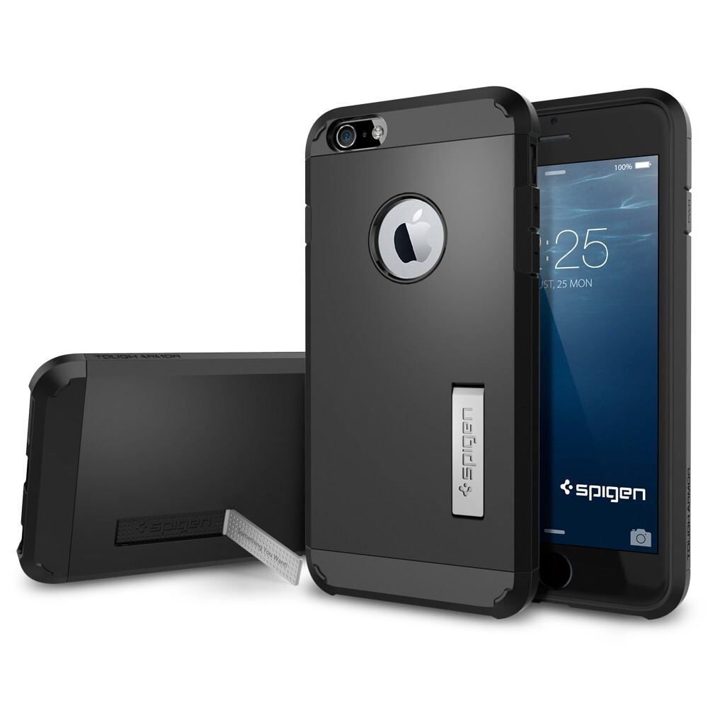 Чехол Spigen Tough Armor Smooth Black для iPhone 6 Plus/6s Plus
