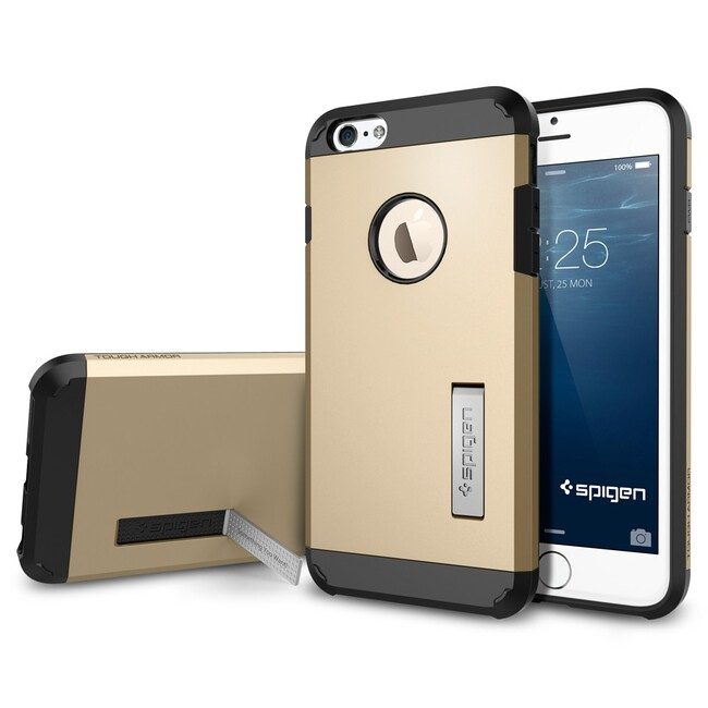 Чехол Spigen Tough Armor Champagne Gold для iPhone 6/6s Plus