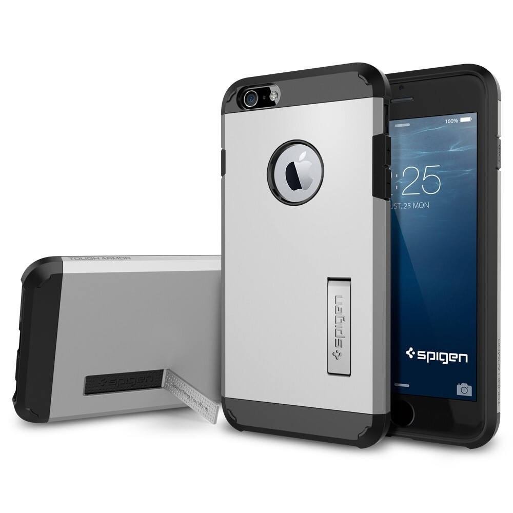 Чехол Spigen Tough Armor Satin Silver для iPhone 6/6s Plus