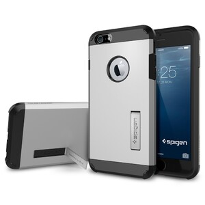 Купить Чехол Spigen Tough Armor Satin Silver для iPhone 6/6s Plus