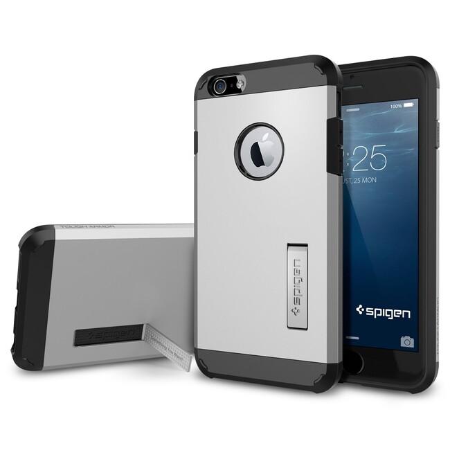 Чехол Spigen Tough Armor Satin Silver для iPhone 6/6s Plus