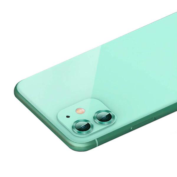 Защитное стекло для камеры iPhone 11 Baseus Alloy Protection Ring Lens Film Green