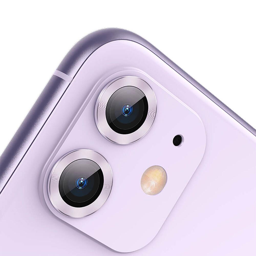 Купить Защитное стекло для камеры iPhone 11 Baseus Alloy Protection Ring Lens Film Purple