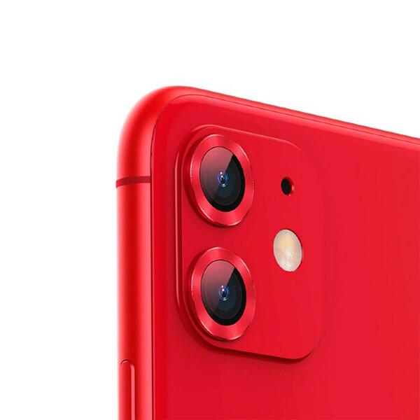 Защитное стекло для камеры iPhone 11 Baseus Alloy Protection Ring Lens Film Red