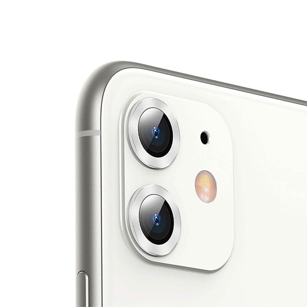 Купить Защитное стекло для камеры iPhone 11 Baseus Alloy Protection Ring Lens Film Silver