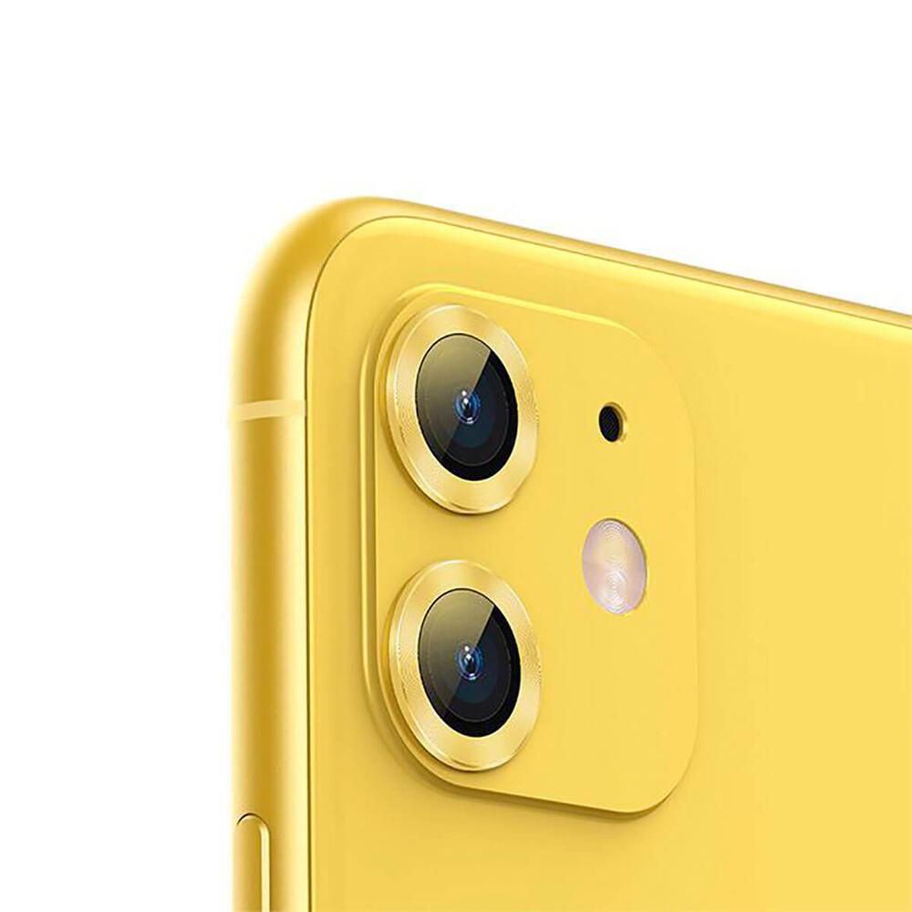 Купить Защитное стекло для камеры iPhone 11 Baseus Alloy Protection Ring Lens Film Yellow
