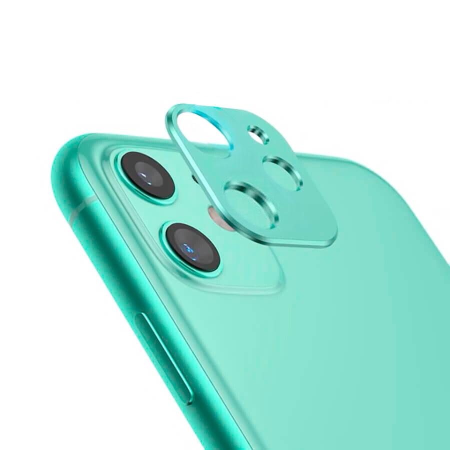 Купить Зеленая защитная рамка для камеры iPhone 11 oneLounge Metal Lens