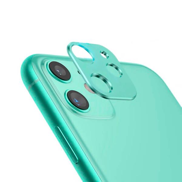 Зеленая защитная рамка для камеры iPhone 11 iLoungeMax Metal Lens