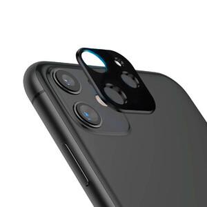 Купить Черная защитная рамка для камеры iPhone 11 oneLounge Metal Lens