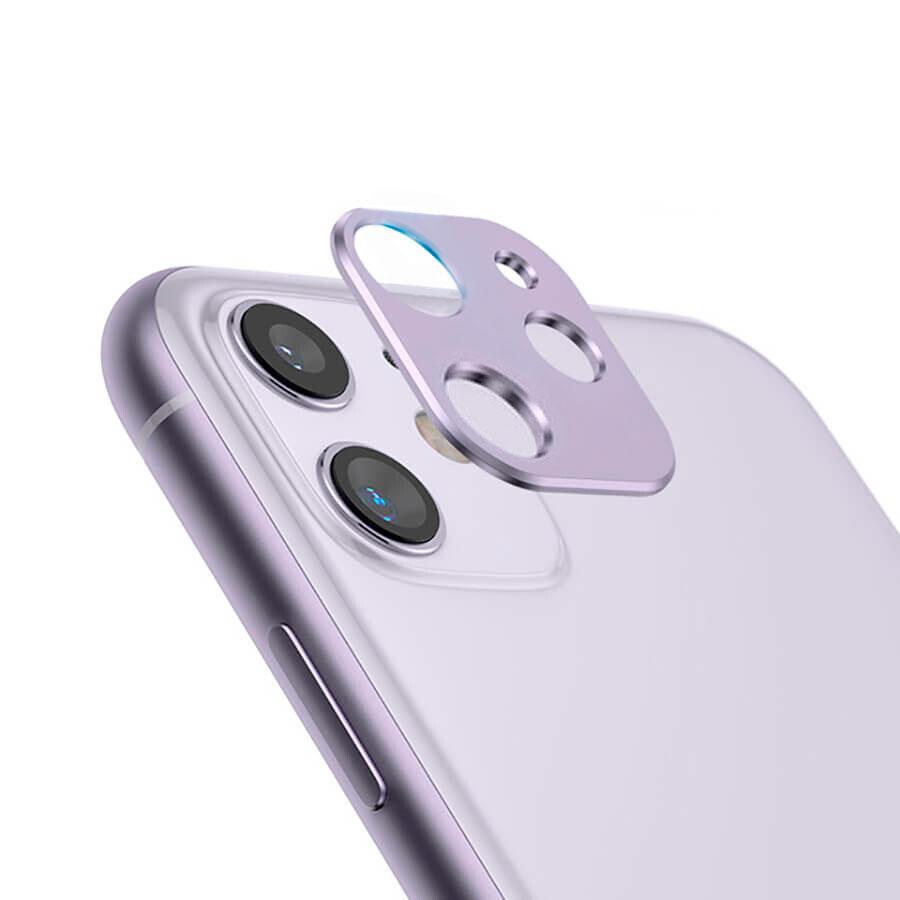 Купить Фиолетовая защитная рамка для камеры iPhone 11 oneLounge Metal Lens