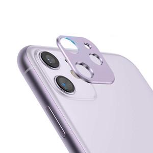 Фиолетовая защитная рамка для камеры iPhone 11 iLoungeMax Metal Lens