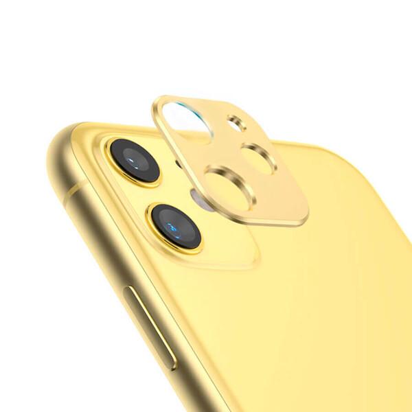 Желтая защитная рамка для камеры iPhone 11 iLoungeMax Metal Lens