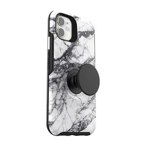 Купить Чехол-подставка (с попсокетом) для iPhone 11 OtterBox Pop Symmetry Series Case White Marble
