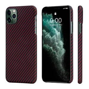 Купить Противоударный чехол для iPhone 11 Pro Max Pitaka MagEZ Black/Red