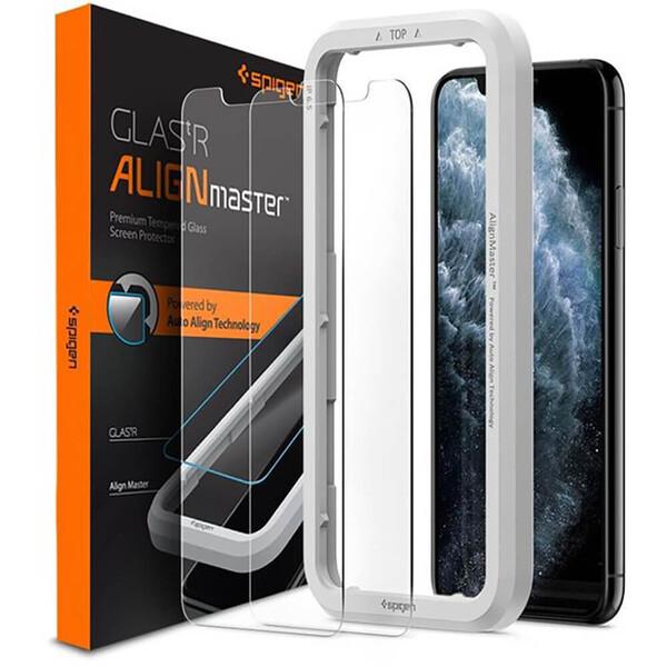 Защитное стекло для iPhone 11 Pro Max | XS Max Spigen AlignMaster Glas.tR (2 Pack)