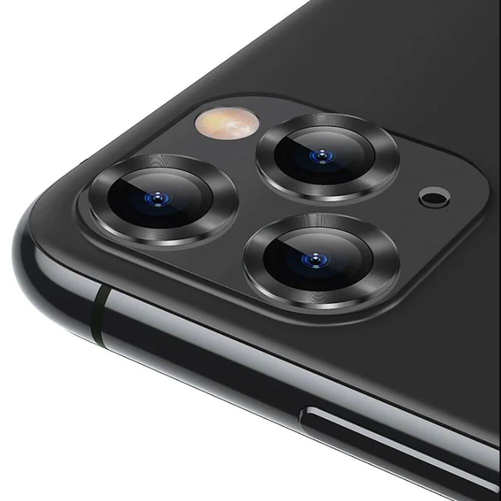 Купить Защитное стекло для камеры iPhone 11 Pro | Pro Max Baseus Alloy Protection Ring Lens Film Grey