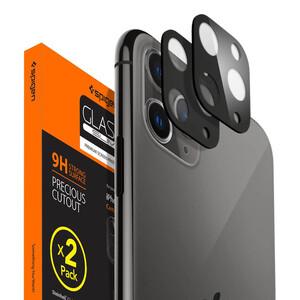 Купить Защитное стекло на камеру для iPhone 11 Pro | Pro Max Spigen GLAS.tR Camera Lens Protector Black (2 шт)