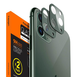 Купить Защитное стекло на камеру для iPhone 11 Pro/Pro Max Spigen GLAS.tR Camera Lens Protector Midnight Green (2 шт)