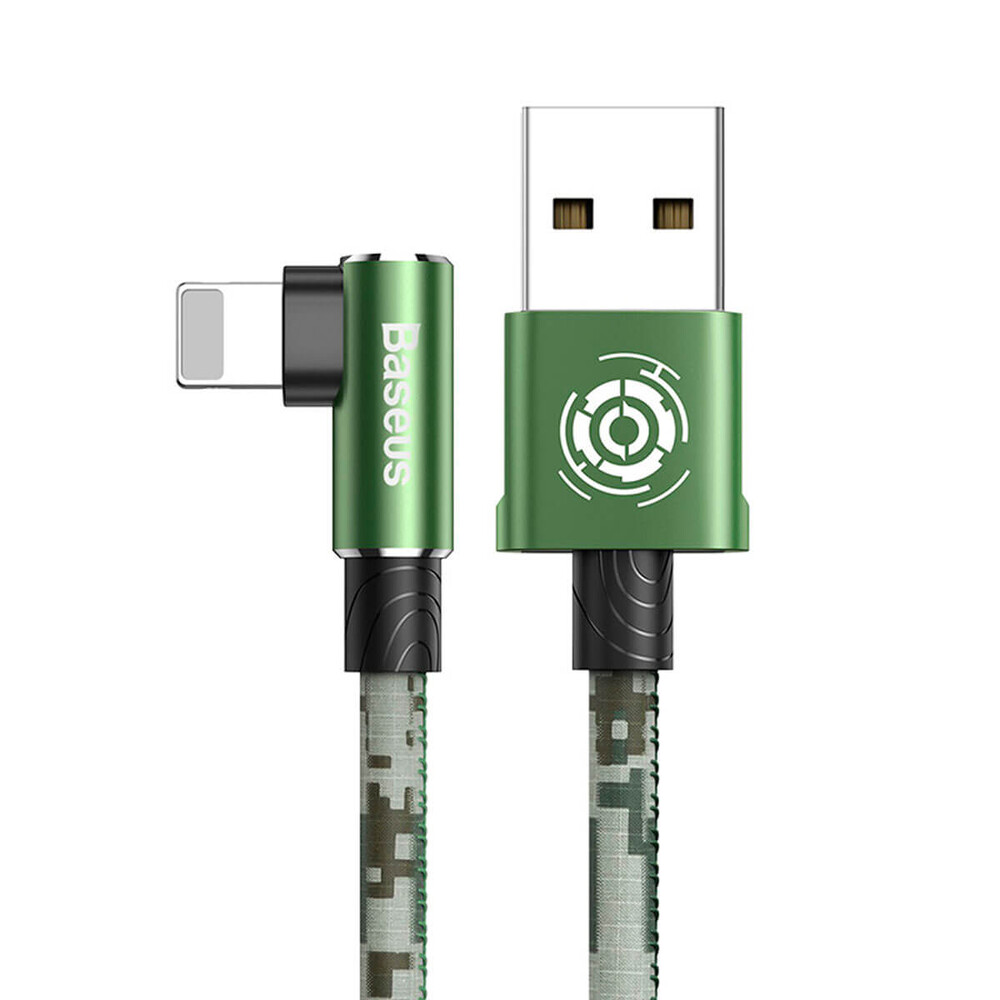 Купить Зарядный кабель для iPhone 1м Baseus Camouflage USB to Lightning Cable Green