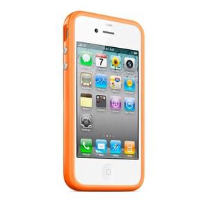 """Купить Чехол Apple """"Бампер"""" для iPhone 4/4S Оранжевый"""