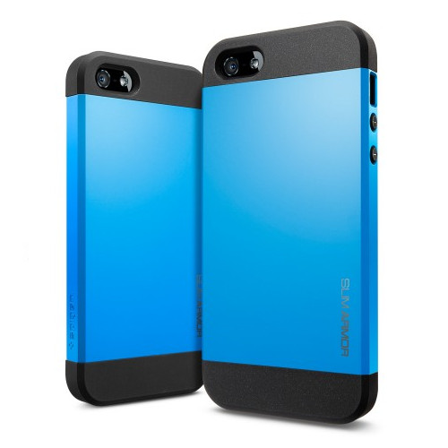 Чехол Spigen SGP Slim Armor Dodger Blue OEM для iPhone 4/4S