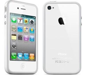 "Купить Чехол  oneLounge Apple ""Бампер"" для iPhone 4/4S Белый"
