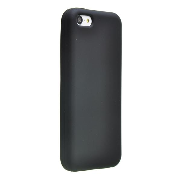 Черный силиконовый чехол для iPhone 5C