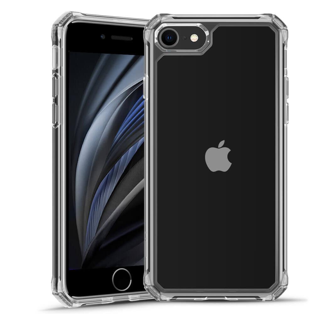 Черный силиконовый чехол ESR Air Armor Clear Black для iPhone 8   7   SE 2 (2020)