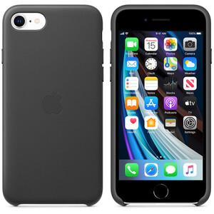 Купить Оригинальный черный кожаный чехол для іPhone SE 2020/7/8 Apple Leather Case Black (MXYM2)