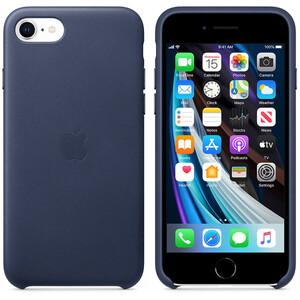 Купить Оригинальный синий кожаный чехол для іPhone 8/7/SE 2020 Apple Leather Case Midnight Blue (MXYN2)