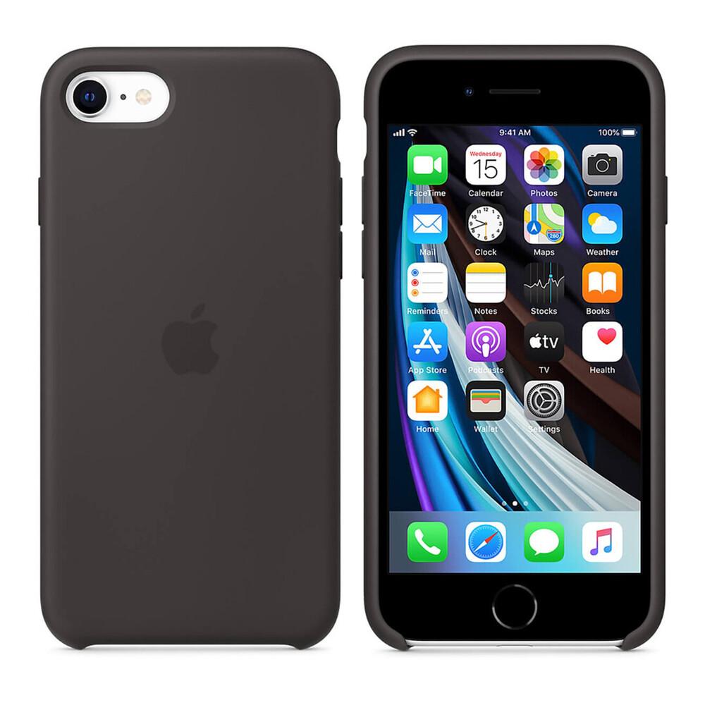 Купить Черный силиконовый чехол Apple Silicone Case Black для іPhone 8 | 7 | SE 2020 (MXYH2)