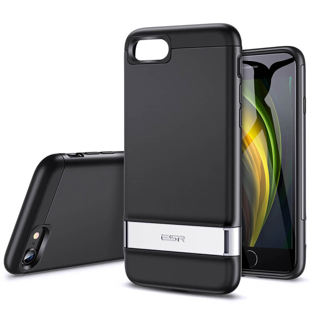 Черный чехол-подставка ESR Air Shield Boost Black для iPhone 8 | 7 | SE 2020