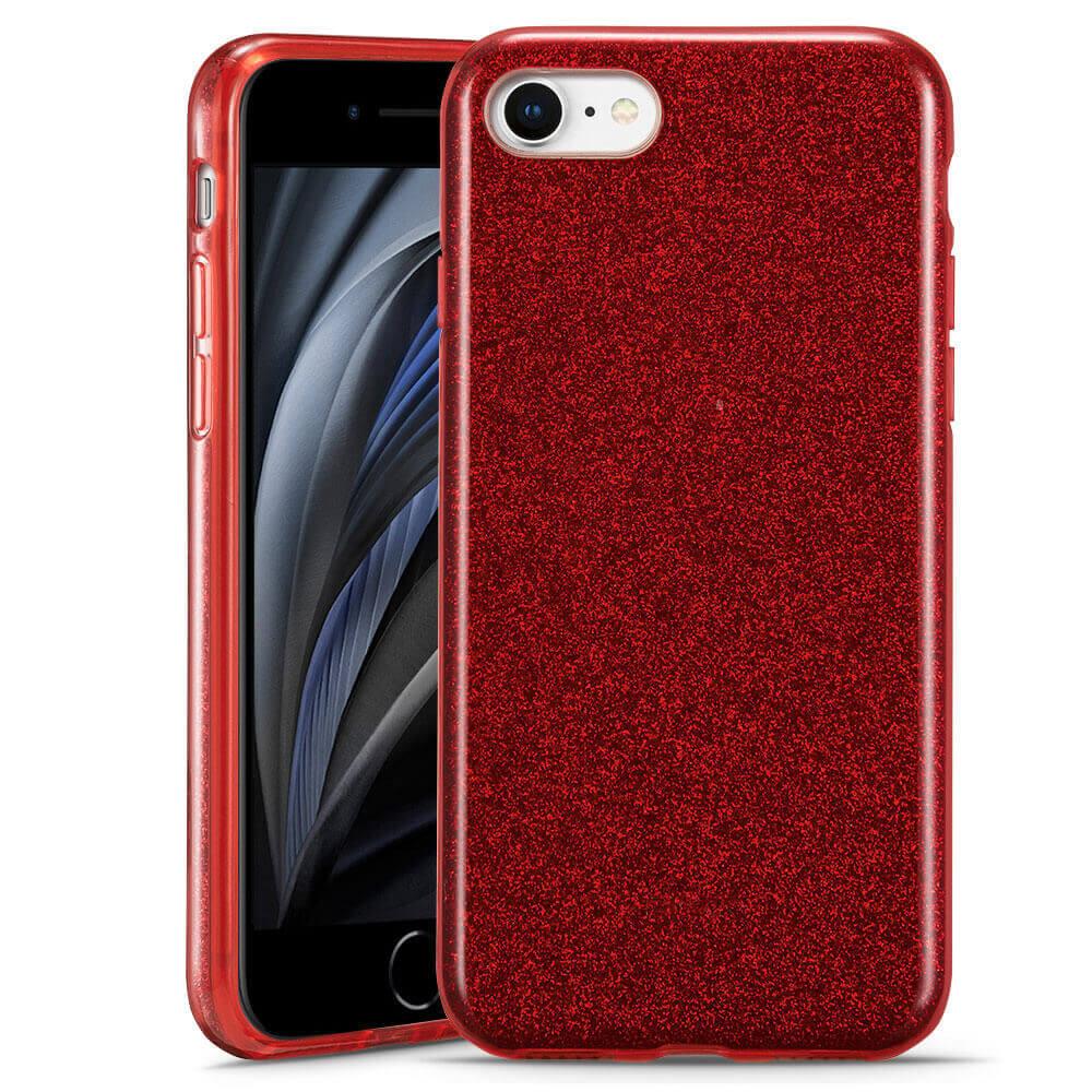 Купить Силиконовый чехол ESR Makeup Glitter Case Red для iPhone 8 | 7 | SE (2020)