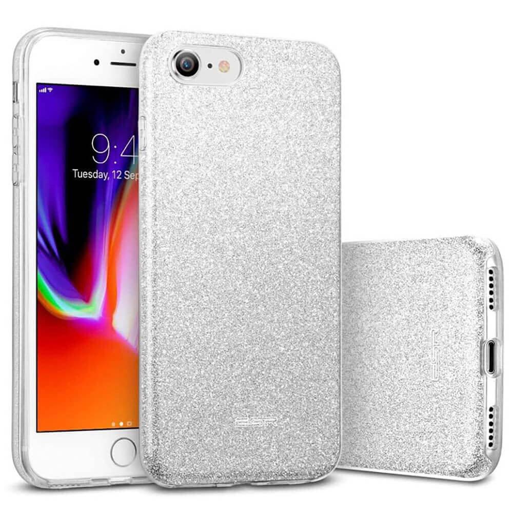 Силиконовый чехол ESR Makeup Glitter Case Silver для iPhone 8   7   SE (2020)