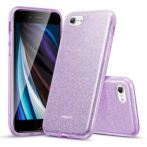 Купить Силиконовый чехол для iPhone 8/7/SE (2020) ESR Makeup Glitter Case Purple