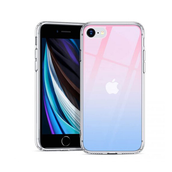 Стеклянный чехол ESR Ice Shield Red | Blue для iPhone 7 | 8 | SE 2020