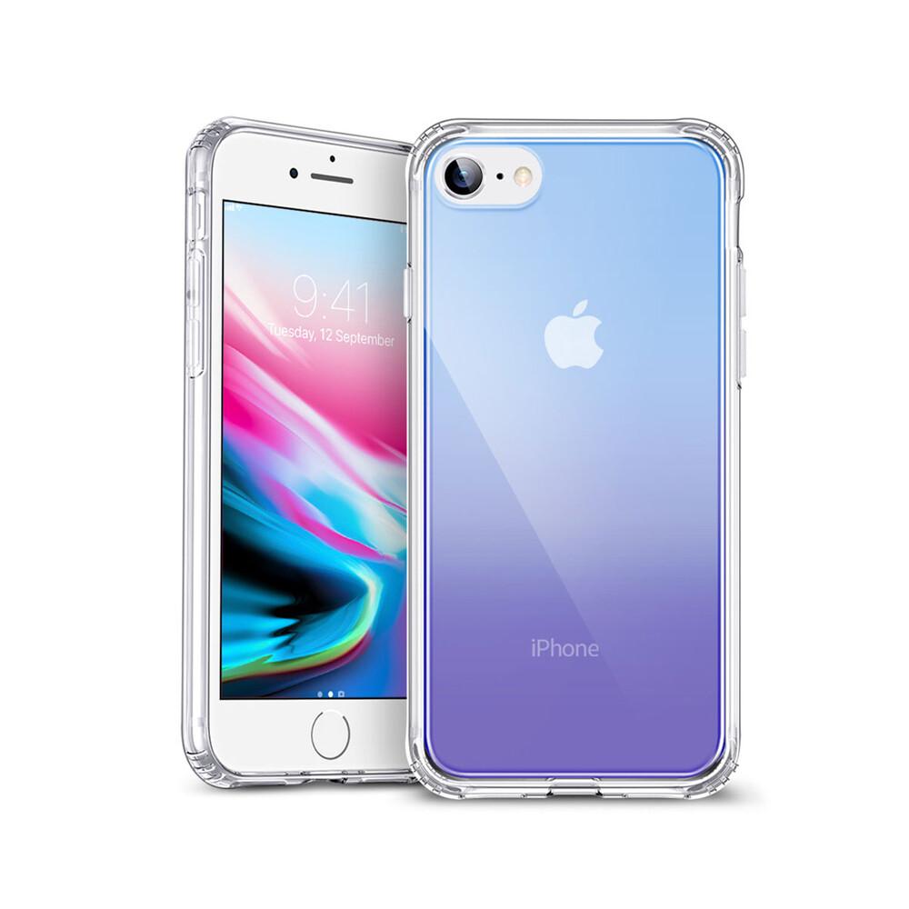 Стеклянный чехол ESR Ice Shield Blue | Purple для iPhone 7 | 8 | SE 2020