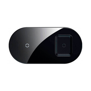 Купить Беспроводная зарядка для iPhone/AirPods/Samsung Baseus Simple 2-in-1 Pro Edition Black