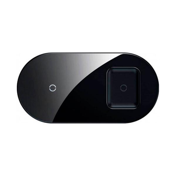 Беспроводная зарядка для iPhone   AirPods   Samsung Baseus Simple 2-in-1 Pro Edition Black