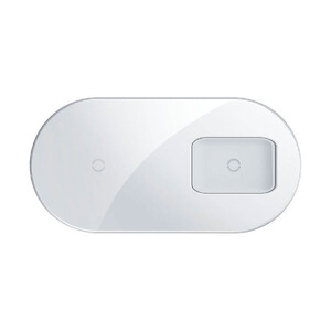 Купить Беспроводная зарядка для iPhone | AirPods | Samsung Baseus Simple 2-in-1 Pro Edition White