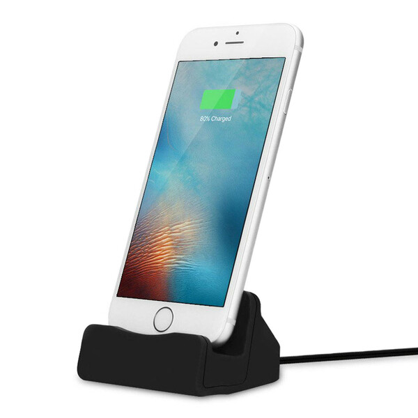 Черная док-станция iLoungeMax для iPhone с USB кабелем 1m