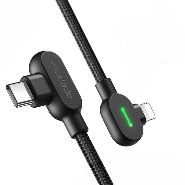 Зарядный кабель для iPhone Mcdodo PD Fast Charging USB-C to Lightning LED-индикацией 1.2m