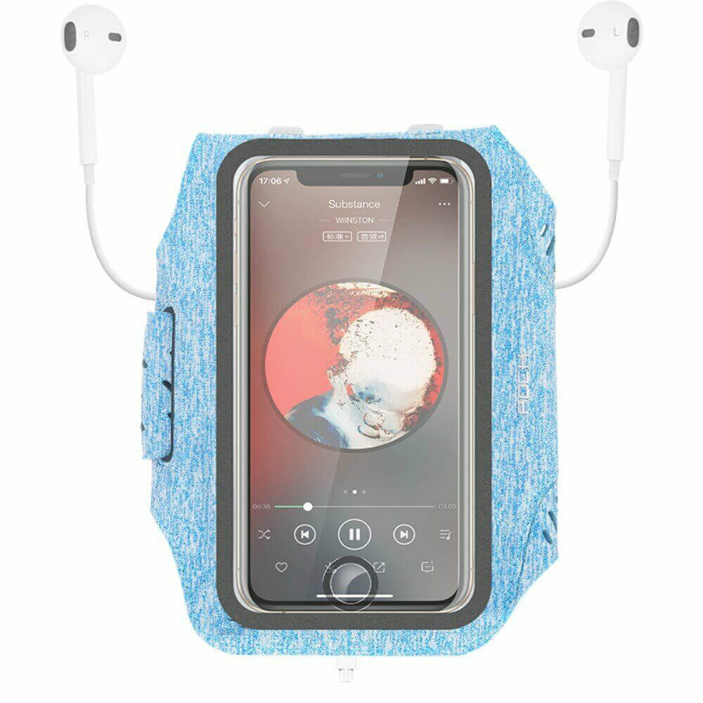 """Купить Спортивный чехол на руку Rock Fitness Armband для iPhone (до 5.5"""") Blue"""