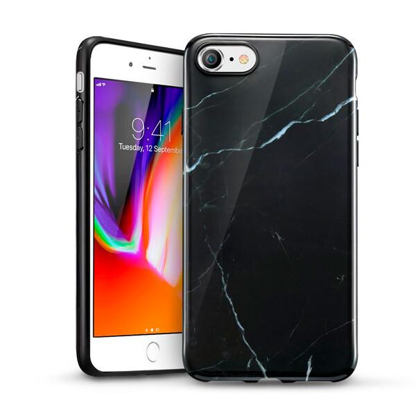 Силиконовый чехол ESR Marble Slim Soft Black Sierra для iPhone SE (2020) | 8 | 7