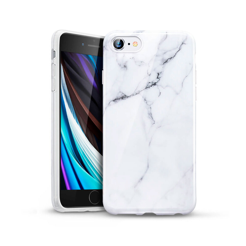 Силиконовый чехол ESR Marble Slim Soft White Sierra для iPhone SE (2020)   8   7