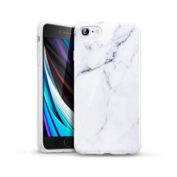Силиконовый чехол ESR Marble Slim Soft White Sierra для iPhone SE (2020) | 8 | 7