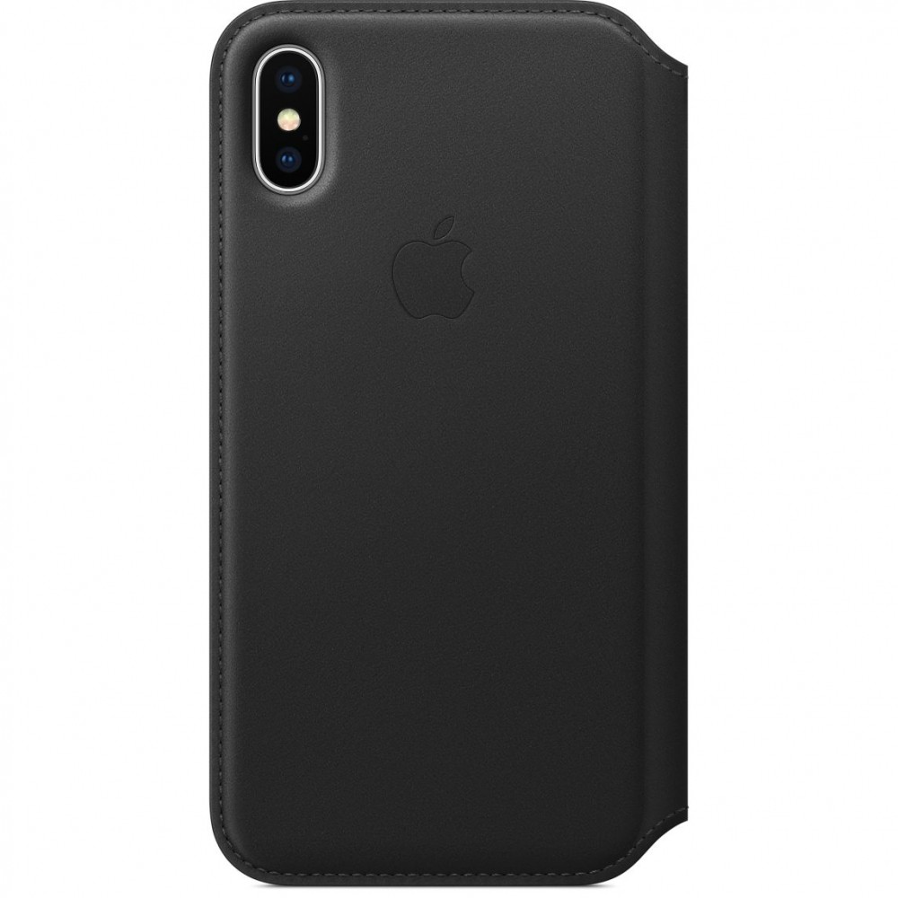 Кожаный чехол-книжка Apple Leather Folio Black (MQRV2) для iPhone X/XS