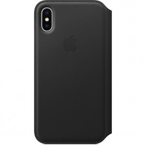 Купить Кожаный чехол-книжка Apple Leather Folio Black (MQRV2) для iPhone X/XS